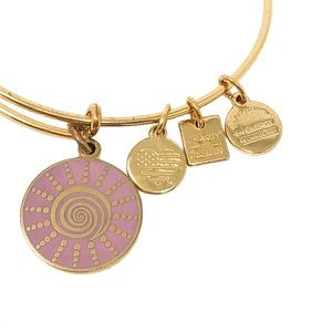 "ALEX AND ANI CHARITY ""SPIRAL SUN"" BRACELET"
